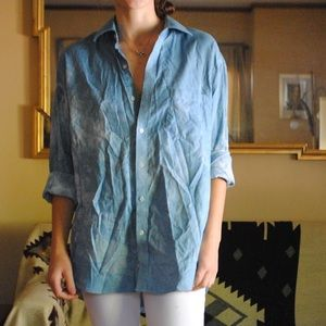 Hand dyed men's button down